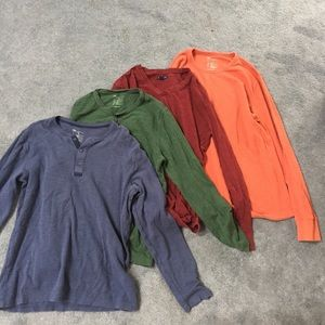 Men's large gap long sleeves